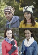 Sirdar Click DK - 9681 Hats, Snood, Wristwarmers Knitting Pattern